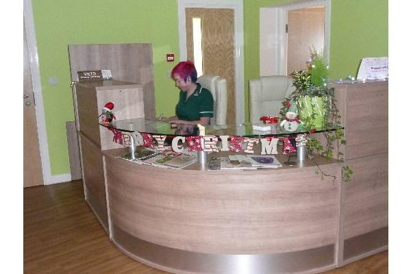 Decorative desk (complete with little elf!)