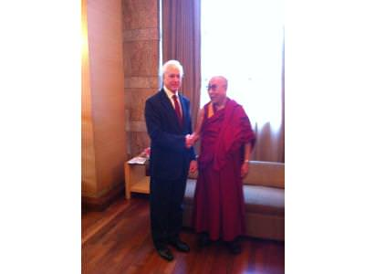 BRUCE MEETS THE DALAI LAMA