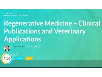 WebinarVet: Regenerative Medicine