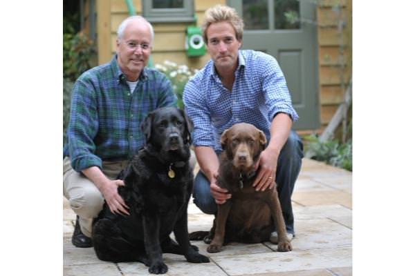 Bruce and Ben Fogle with Ben's Inca and Maggi
