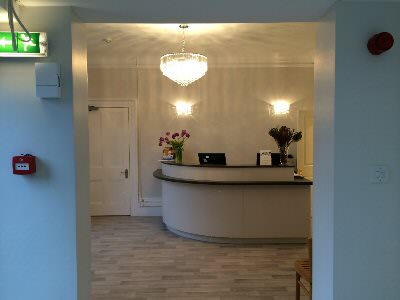 Our new reception