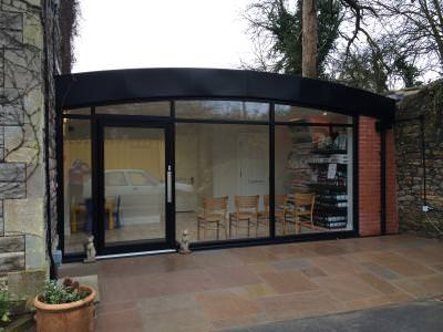 March 2015, cat separate entrance, waiting room and consulting room