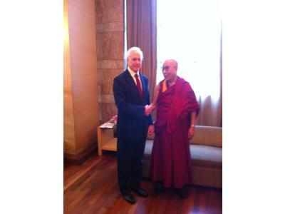 Bruce meets the Dalai Lama