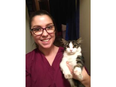 REBECCA MANNING GAINS CERTIFICATE IN FELINE NURSING WITH DISTINCTION