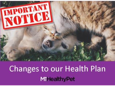 Pet health plan update
